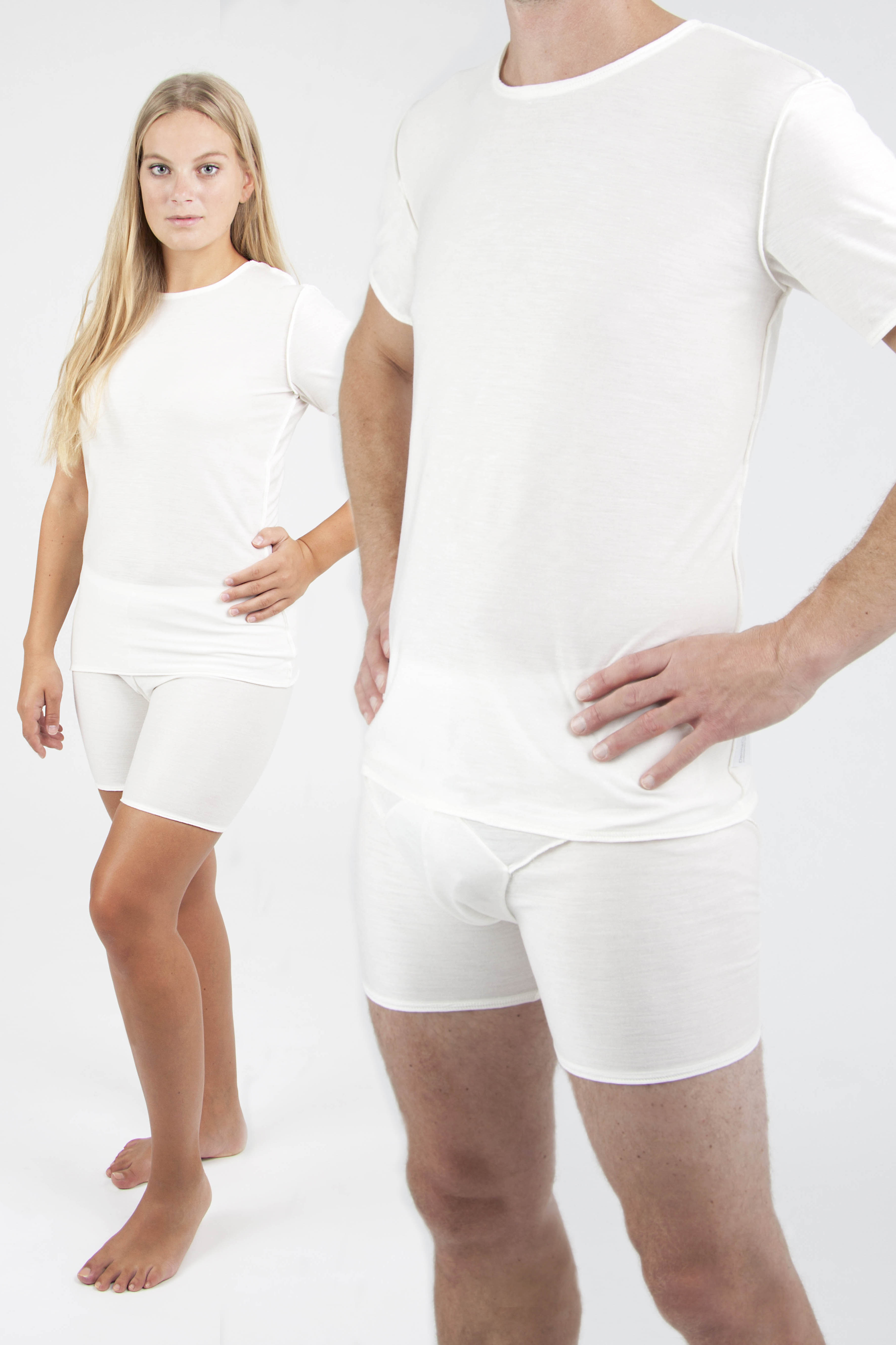 adults wearing DermaCura eczema clothing